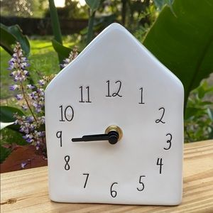 New Rae Dunn Birdhouse Clock